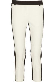 Tibi  Anson Two-Tone Stretch-Twill Pants