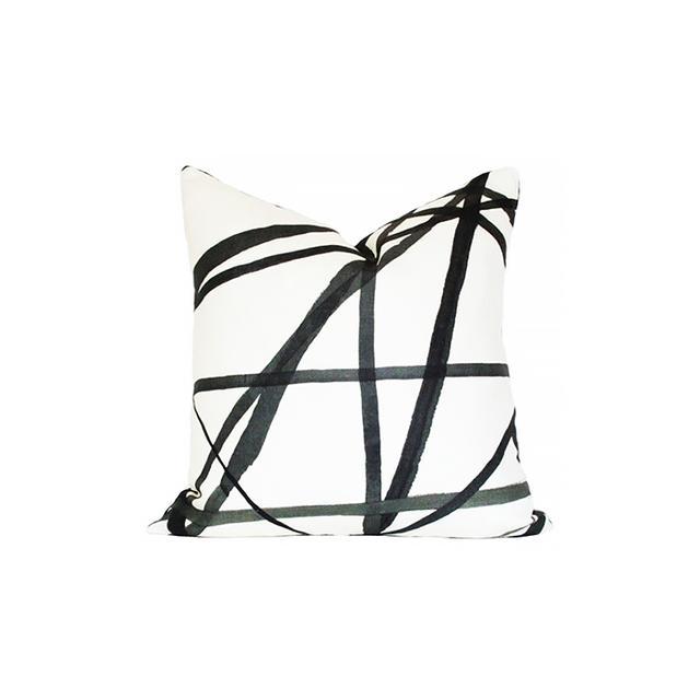 Kelly Wearstler Style Channels Ebony & Ivory Pillow