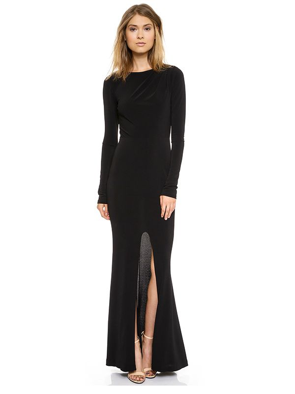 Nicole Richies Trick For Maximizing A Sleek Black Dress Who What Wear
