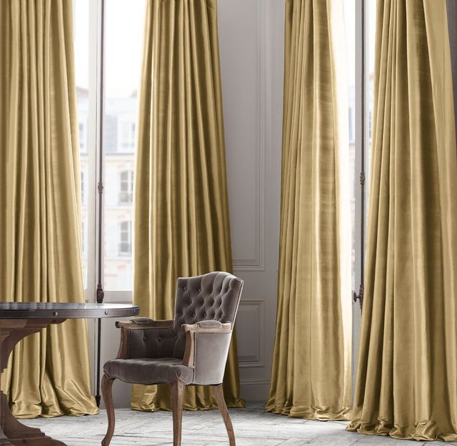 Restoration Hardware Thai Silk Tonal Stripe Drapery