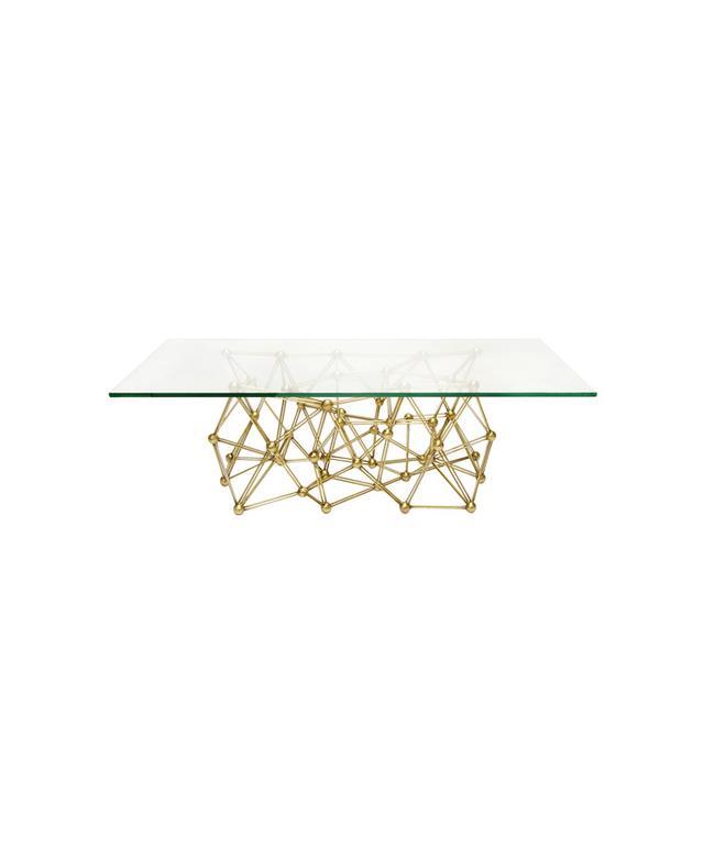 Zinc Door Worlds Away Molecule Gold Leaf Iron Coffee Table
