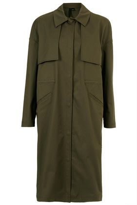 Topshop By Boutique  Military Trench Coat