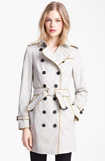 Burberry London  Belted Double Breasted Trench Coat