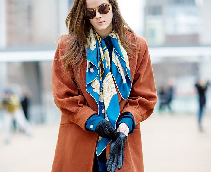 2019 year for women- How to silk wear scarf with coat