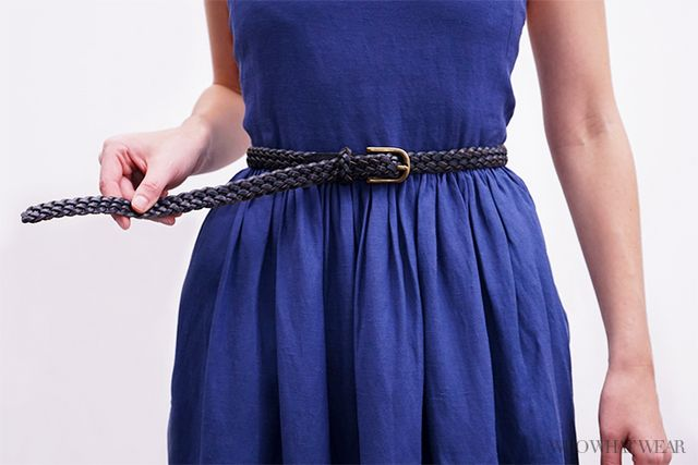 Step 2: Put on the belt like you would normally.