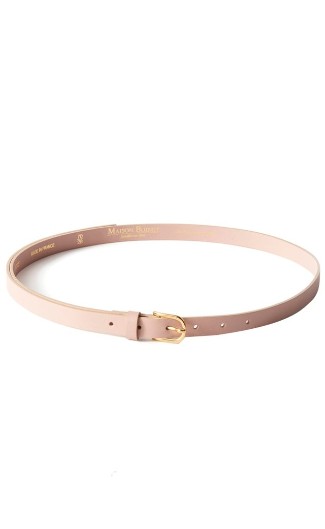 Maison Boinet Skinny Belt With Gold Buckle