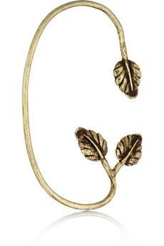 Pamela Love  Maia Bronze Leaf Ear Cuff