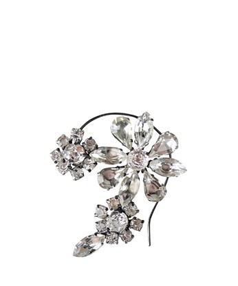 Emanuele Bicocchi  Crystal Flower Ear Cuff