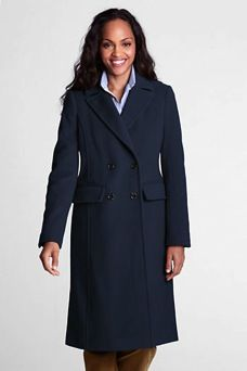 Lands' End  Tall Luxe Wool Double Breasted Coat