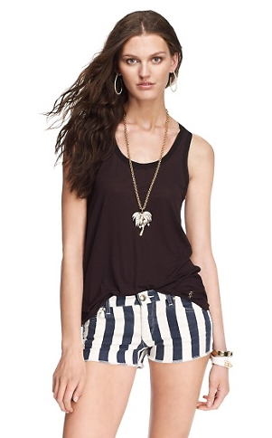 Juicy Couture Awning Stripe Cut-Off Shorts