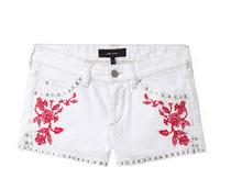 Isabel Marant Gabao Embroidered Jean Shorts