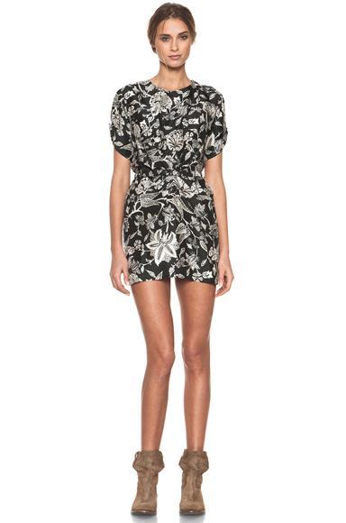 Isabel Marant Tilda Hawaiian Modern Silk Dress