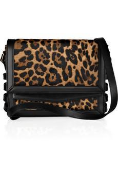 Christian Louboutin  Farida Leopard-Print Calf Half Should Bag