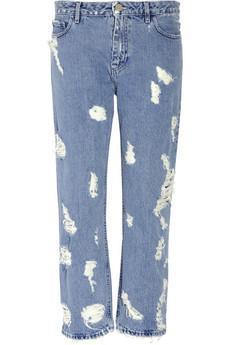 Acne Pop Trash High-Rise Distressed Jeans