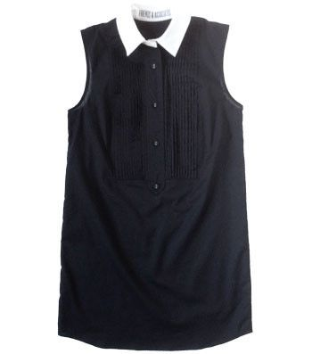 Friends & Associates Alexa Bib-Front Dress