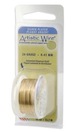 Artistic Wire 30-Gauge Silver Plated Gold Wire