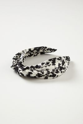 Anthropologie Leopard Turban Headband