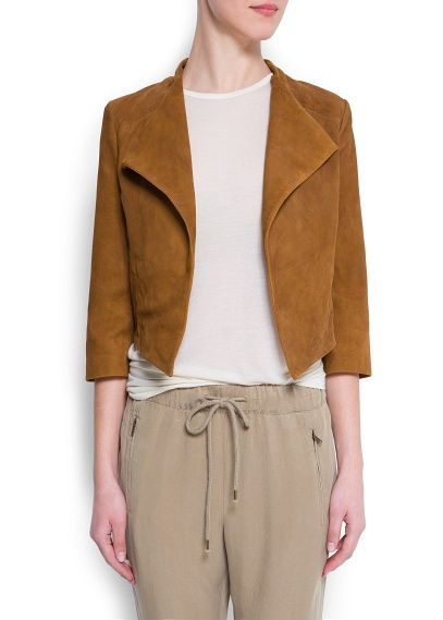Mango Tan Leather Jacket