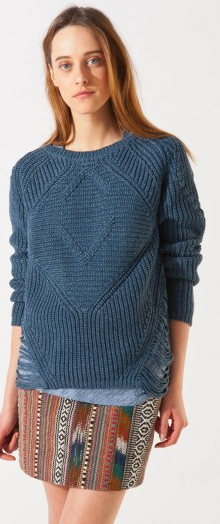 Maje Aero Loose Stitch Sweater