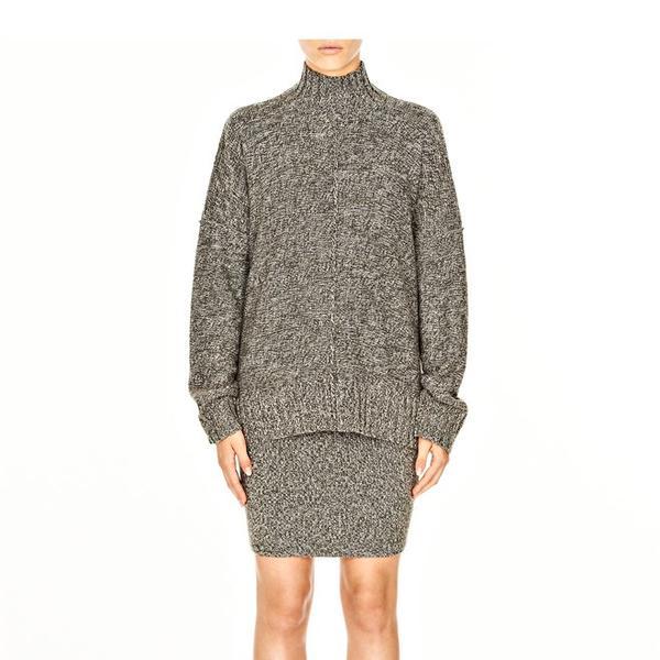T by Alexander Wang Wool Acrylic Marled Mockneck Sweater