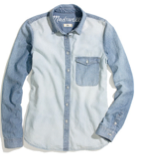 Madewell Two-Tone Chambray Shirt