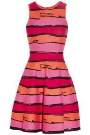 Issa  Striped Stretch-Ponte Dress