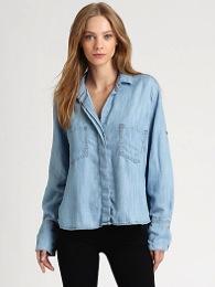 Bella Dahl  Split-Back Chambray Shirt