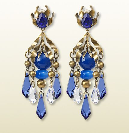 Gucci  Earrings with Blue Pendants