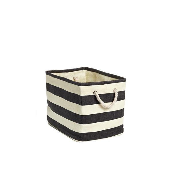 Striped Cloth Bin