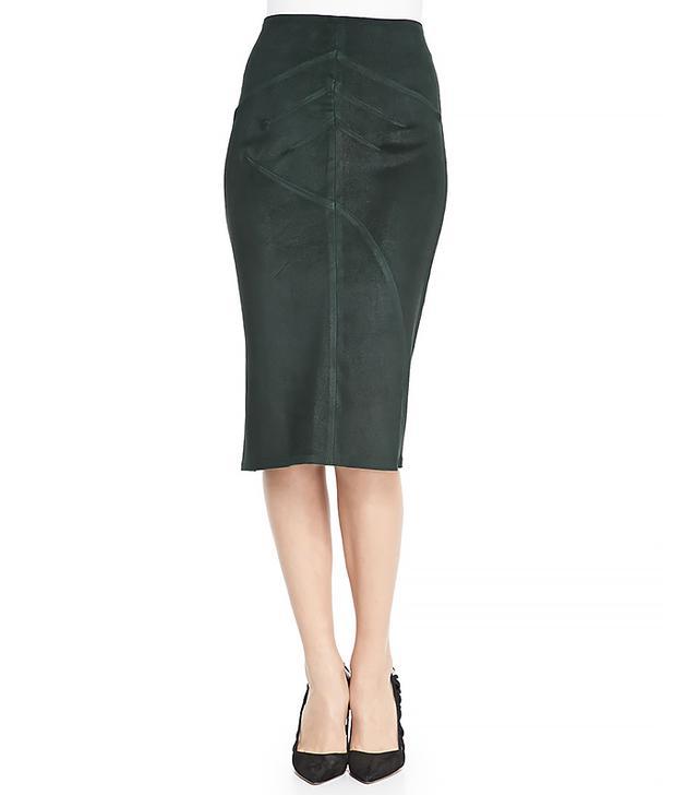 10 Crosby Derek Lam Seamed Suede Pencil Skirt