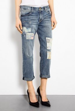 Current/Elliott  Loved Hippie Patchwork Boyfriend Jeans