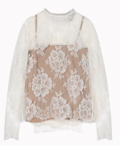 Stella McCartney Off-White Cotton Lace Randall Shirt