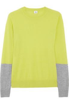Iris & Ink  Colour-Block Cashmere Sweater