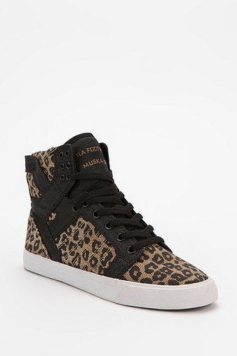 Supra  Leopard Print SkyTop High-Top Sneakers
