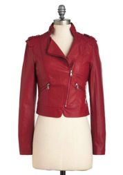 ModCloth Fire Brick And Moto Jacket