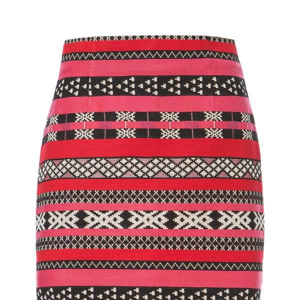Zara Ethnic Jacquard Mini Skirt