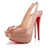 Christian Louboutin  Lady Peep Sling Shoes