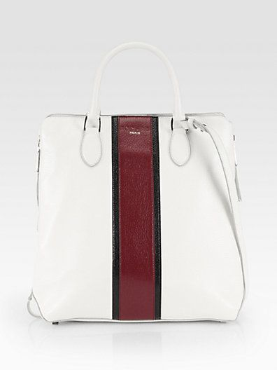 Rochas  Striped Top Handle Tote