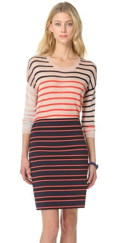 Sonia by Sonia Rykiel Stripe Long Sleeve Sweater