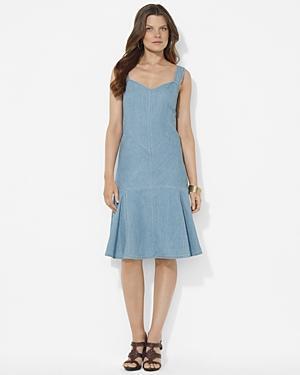 Lauren Ralph Lauren Sleeveless Denim Dress