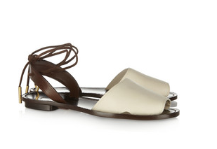 Maiyet Two-Tone Leather Sandals