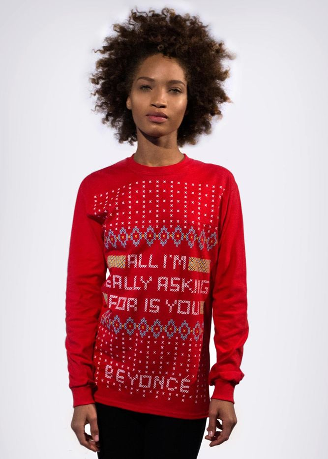 0fedbb566a0 Where to Get the Ugly Christmas Sweater from Beyoncé s