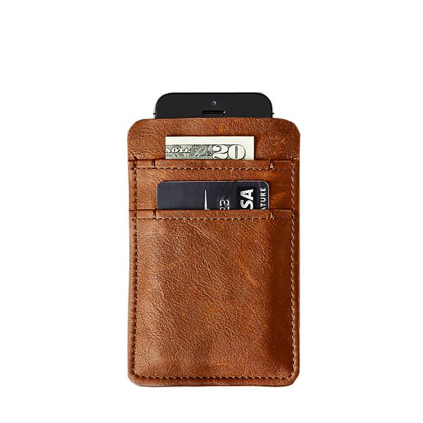 Restoration Hardware Italian Leather Slip Wallet for iPhone