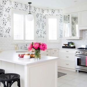 Before and After: A Nondescript Kitchen Gets a Feminine-Chic Makeover