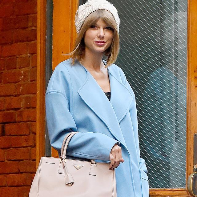 Taylor Swift's Fabulous Powder Blue Coat Is Under $100