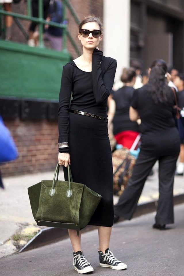 Model Off Duty Style 7 Ways To Wear Black Converse