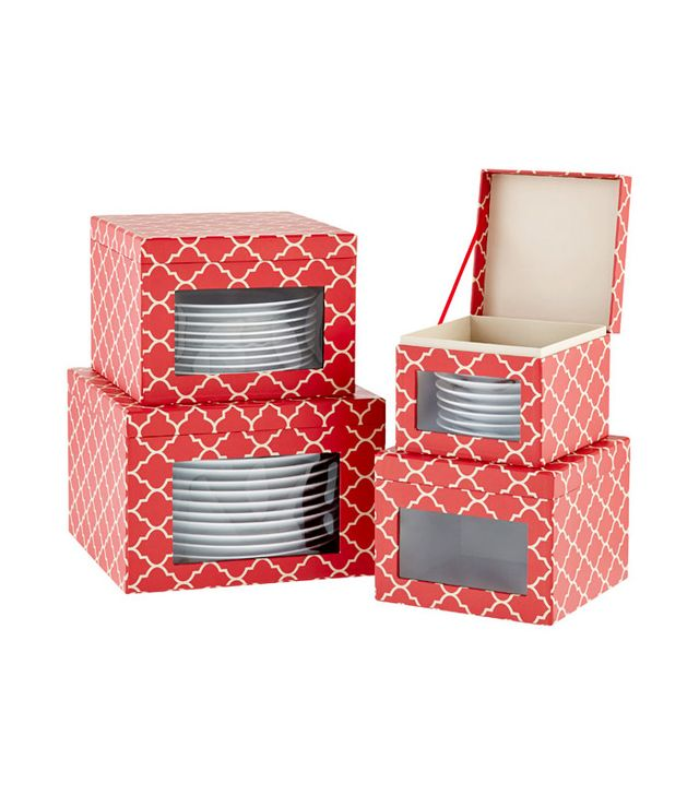 The Container Store Holiday Dinnerware Storage Cases