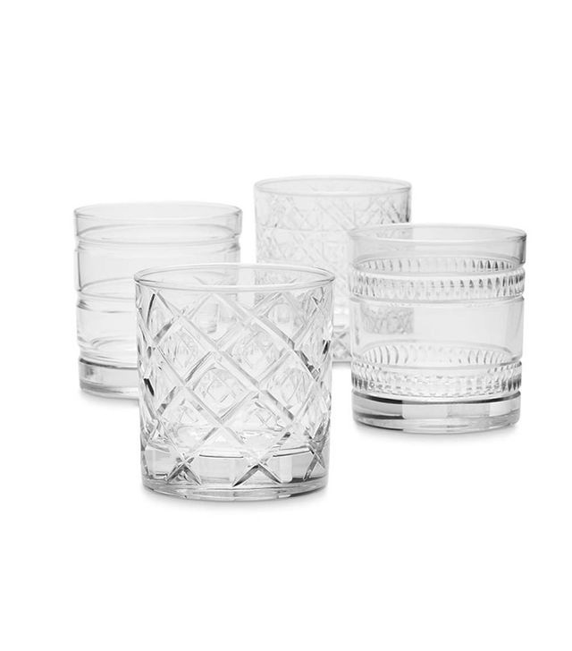Williams-Sonoma Mixed Cut Double Old-Fashioned Glasses