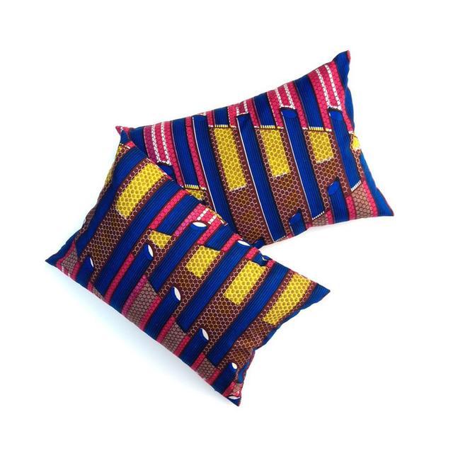 Patch NYC Batik Print Pillow Set