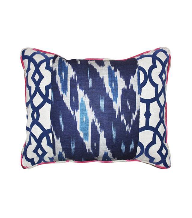 Kim Salmela Raji 14x20 Cotton-Blend Pillow in Navy